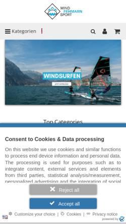 Vorschau der mobilen Webseite www.kitesurfing.de, Kitesurfing Fehmarn