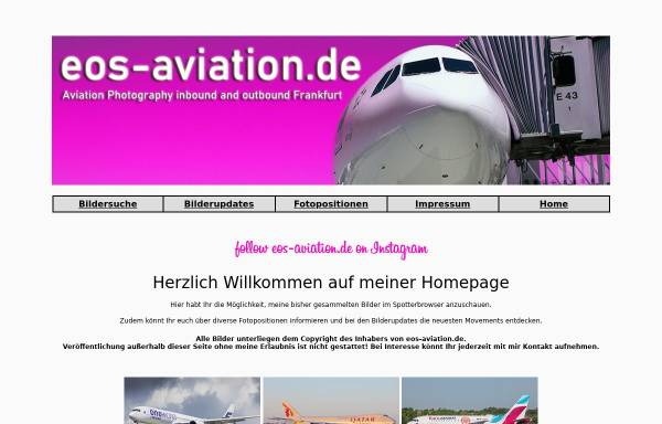 Vorschau von eos-aviation.de, EOS-Aviation