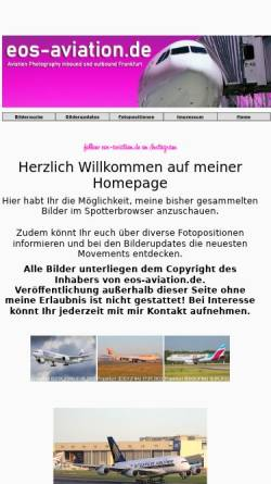 Vorschau der mobilen Webseite eos-aviation.de, EOS-Aviation