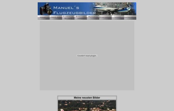Vorschau von www.manuels-flugzeugbilder.de, Manuels Flugzeugbilder