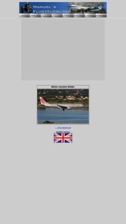 Vorschau der mobilen Webseite www.manuels-flugzeugbilder.de, Manuels Flugzeugbilder