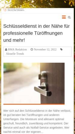 Vorschau der mobilen Webseite www.rmas.de, RMAS