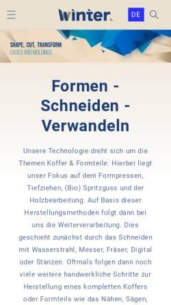 Vorschau der mobilen Webseite www.jakob-winter.com, Jakob Winter GmbH