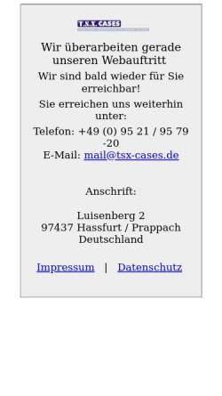 Vorschau der mobilen Webseite www.tsx-cases.de, T.S.X. Cases - Christian Eller