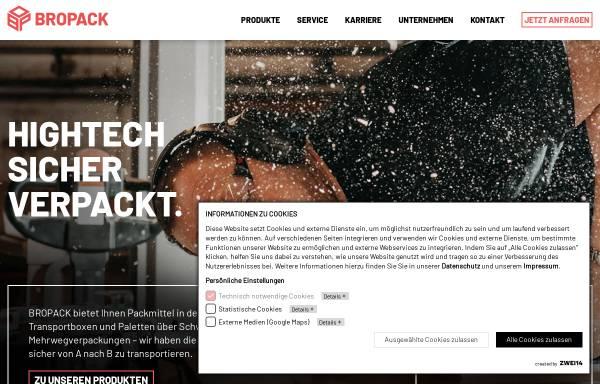 Vorschau von www.bropack.de, Bropack Bronner Packmittel KG