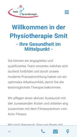 Vorschau der mobilen Webseite www.physiotherapie-tg.ch, Physiotherapie Smit & Fritschi