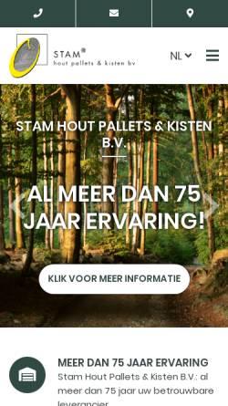 Vorschau der mobilen Webseite www.stamhpk.nl, Stam Hout Pallets & Kisten BV
