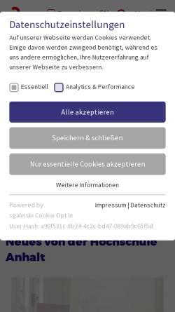 Vorschau der mobilen Webseite www.hs-anhalt.de, Hochschule Anhalt (FH)