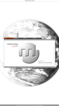 Vorschau der mobilen Webseite www.mediendesign-wagner.de, mediendesign wagner