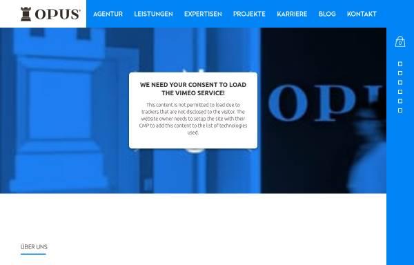 Vorschau von www.opus-marketing.de, Opus Marketing GmbH - Full Service Werbeagentur