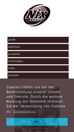 Vorschau der mobilen Webseite www.nixdesign.de, nixdesign