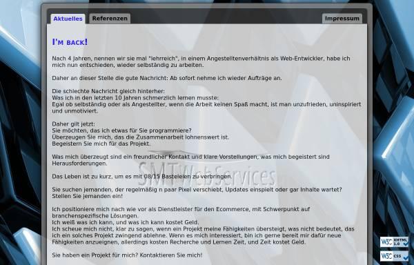 Vorschau von www.smt-webservices.de, SMT WebServices, Tordt Schmidt