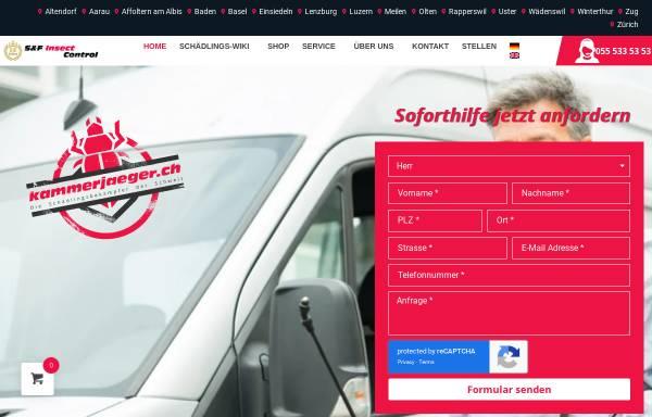 Vorschau von www.kammerjaeger.ch, Hostettler Schädlingsbekämpfung