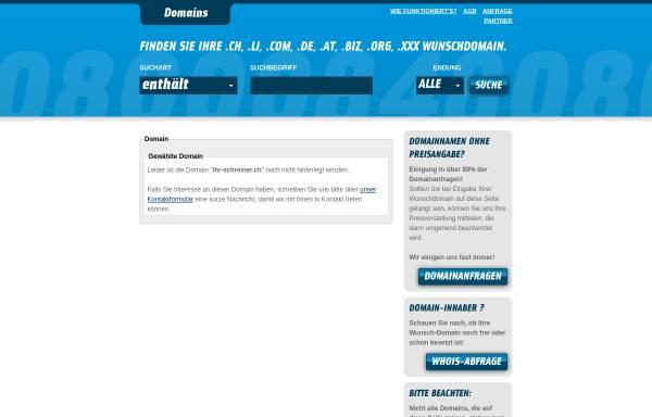 Vorschau von www.ihr-schreiner.ch, Kälin + Co. Design