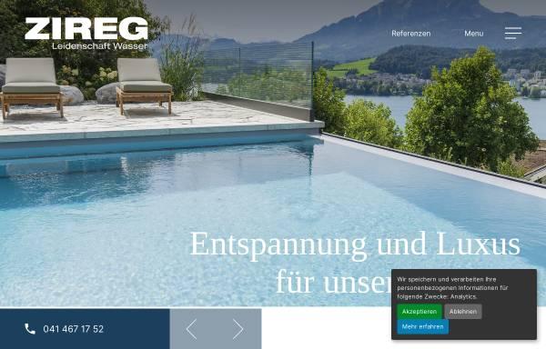 Vorschau von zireg.ch, ZIREG Ziswiler GmbH