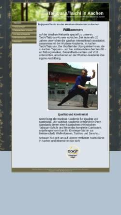Vorschau der mobilen Webseite taijiquan-aachen.de, Wushan International Association e.V.
