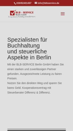 Vorschau der mobilen Webseite www.blbservice.de, BLB Service Ltd. & Co. KG