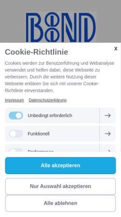 Vorschau der mobilen Webseite www.boond.de, BooND e. V.