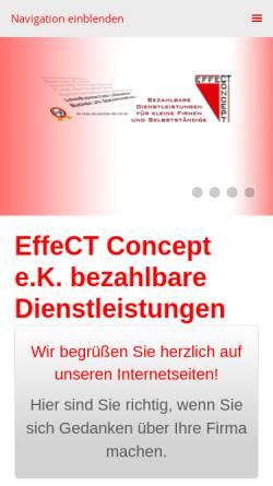 Vorschau der mobilen Webseite www.effect-concept.de, EffeCT Concept e.K.