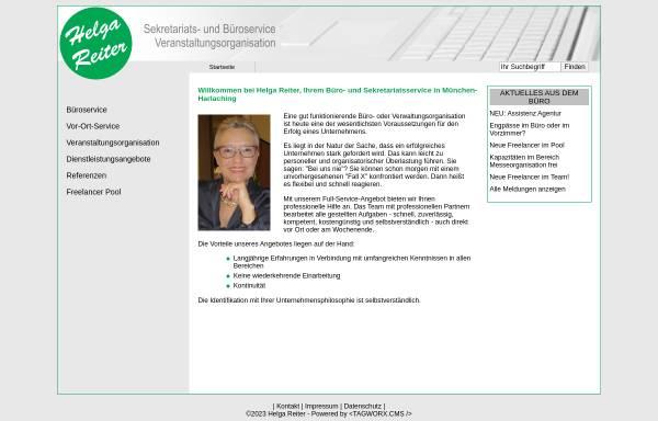 Vorschau von www.helga-reiter.de, Helga Reiter - Büro- und Sekretariatsservice