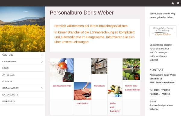 Vorschau von www.personal-weber.de, Personalabrechnung und Verwaltung Doris Weber