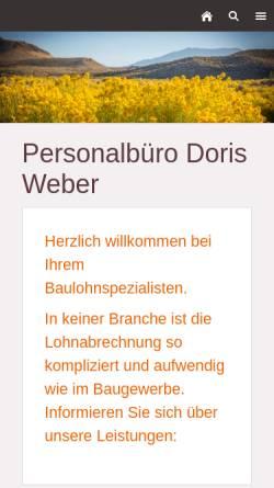 Vorschau der mobilen Webseite www.personal-weber.de, Personalabrechnung und Verwaltung Doris Weber