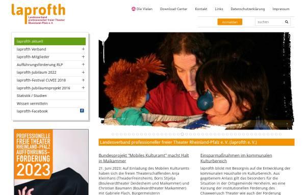 Vorschau von www.laprofth.de, Landesverband professioneller Theater Rheinland-Pfalz e. V.