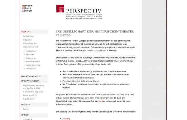 Vorschau von www.perspectiv-online.org, Perspectiv – Gesellschaft der historischen Theater Europas