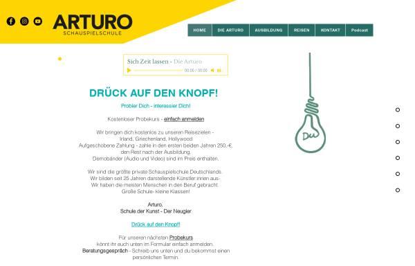 Vorschau von www.arturo-schauspielschule.de, Arturo Schauspielschule