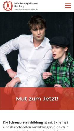 Vorschau der mobilen Webseite www.freie-schauspielschule-hamburg.de, Freie Schauspielschule Hamburg