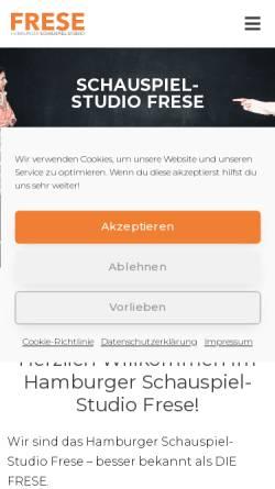 Vorschau der mobilen Webseite www.schauspielstudio.de, Hamburger Schauspiel-Studio Frese