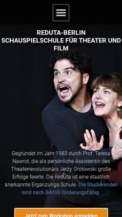 Vorschau der mobilen Webseite reduta-berlin.de, Reduta Berlin