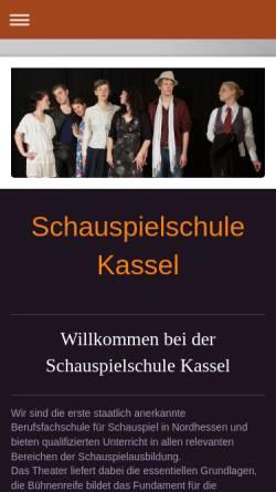 Vorschau der mobilen Webseite schauspielschule-kassel.de, Schauspielschule Kassel