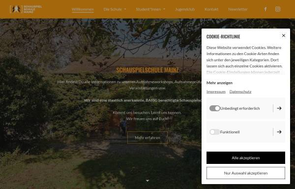 Vorschau von www.schauspielschule-mainz.de, Schauspielschule Mainz