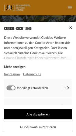 Vorschau der mobilen Webseite www.schauspielschule-mainz.de, Schauspielschule Mainz