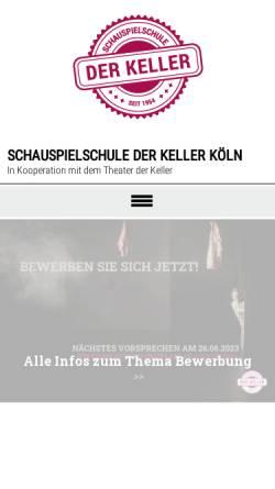Vorschau der mobilen Webseite www.schule-des-theaters.de, schule des theaters im theater der keller