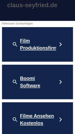 Vorschau der mobilen Webseite www.claus-seyfried.de, Kiev-Fotogalerie [Claus Seyfried]