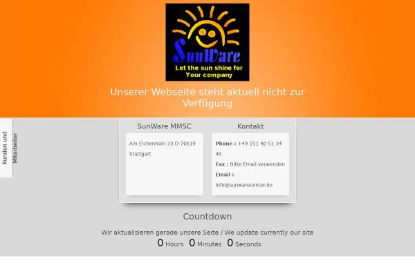 Vorschau von www.sunwarecenter.de, SunWare Multimedia Sun-Company - Stefan Westhäußer
