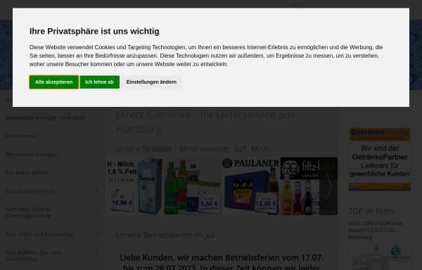 Vorschau von www.direct-getraenke.de, Direct Getränke