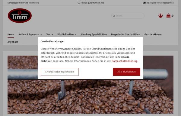 Vorschau von www.kaffee-timm.de, Kaffeeröster Timm