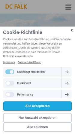 Vorschau der mobilen Webseite www.dcfalk.ch, Delta Club Falk Balsthal