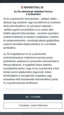 Vorschau der mobilen Webseite www.magyarfutball.hu, Ungarische Fussballstadien
