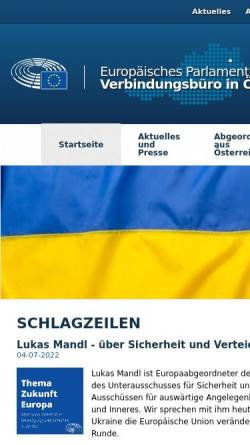 Vorschau der mobilen Webseite www.europarl.at, Informationsbüro für Österreich