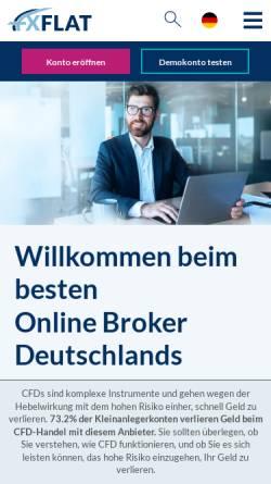 Vorschau der mobilen Webseite www.fxflat.de, FXFlat - Heyder Krüger & Kollegen GmbH