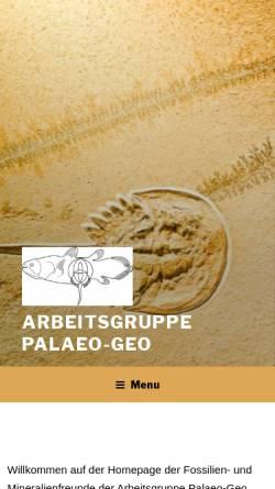 Vorschau der mobilen Webseite www.palaeo-geo-ev.de, Palaeo-Geo e.V.