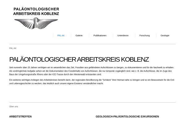 Vorschau von www.unterdevon.de, Paläontologischer Arbeitskreis, Koblenz, Mittelrhein