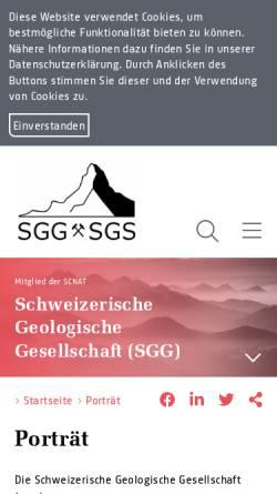 Vorschau der mobilen Webseite naturwissenschaften.ch, Schweizerische Paläontologische Gesellschaft (SPG)