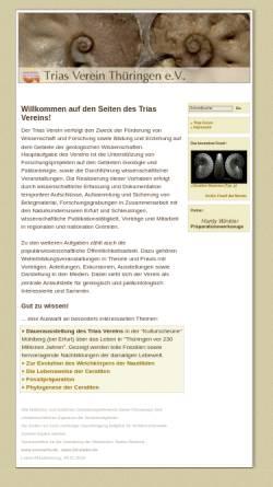 Vorschau der mobilen Webseite www.trias-verein.de, Trias Verein Thüringen e.V.