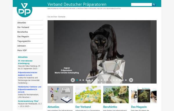 Vorschau von www.praeparation.de, Verband Deutscher Präparatoren e.V.