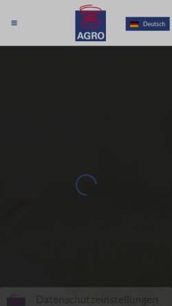 Vorschau der mobilen Webseite www.agro-federkerne.de, AGRO Federkern Produktions GmbH